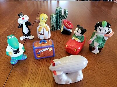 Lot of BIG Novelty Salt and Pepper Shakers Betty Boop Zeppelin Alligator Vandor