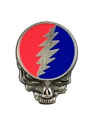 """Grateful Dead STEAL YOUR FACE 1-1/2"""" x 1-1/8"""" Metal & Enamel Pin (P360) ©GDP"""