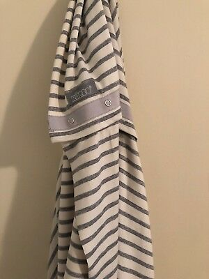 Nuroo Grey And Cream Jersey Material Breastfeeding Scarf