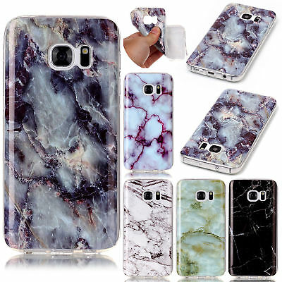 Ultra Slim Marble Pattern Soft TPU Silicone Case Cover For Samsung Galaxy Phones