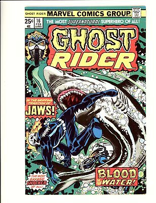 Ghost Rider (1973) #16 F/VF 7.0 Vs Jaws