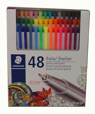 Staedtler Triplus Fineliner Porous Point Pens 0.3mm Tip 48 Colors