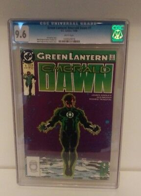 Green Lantern : Emerald Dawn #1  CGC 9.6 1989 DC Comics White Pages Nice Display