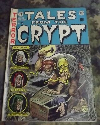 TALES FROM THE CRYPT #29 I.C. PUBLISHING Golden Age Horror Comic Book 1952
