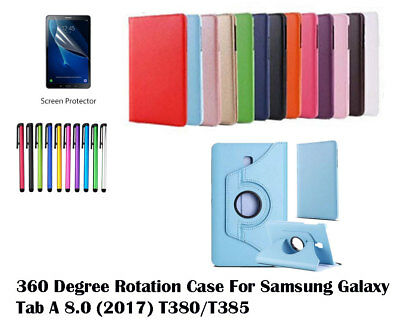 """For Samsung Galaxy Tab A 8.0""""  2017 360°Rotate Leather Protective Cover Case"""