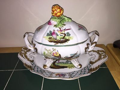 Chelsea House Tureen Bowl & Plate Chelsea Bird 42-0023 EXCELLENT REDUCED