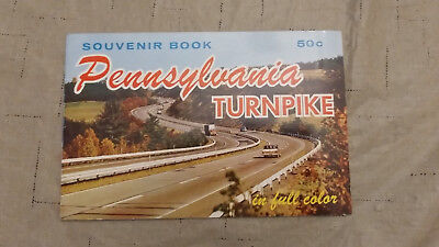 Vintage 1950s souvenir book of the Pennsylvania Turnpike System