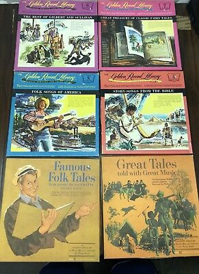 Lot Of The Golden Record Library LP Records Collection Folk Tales Stories Etc.