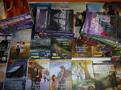 Lot Of 50 Love Inspired Romance ,suspense And Historical Novels By Assorted Auth