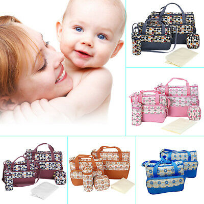 Canvas Waterproof Diaper Nappy Changing Liners Bags Mummy Baby Travel Bag Set