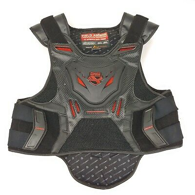 ICON FIELD ARMOR STRYKER SERIES Back Spine Protector Vest w/ Chest Plate 2XL-3XL