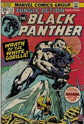 JUNGLE ACTION #13 (Jan.1974) V/F cond. With The Black Panther! The White Gorilla
