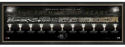 Trent Cotchin Signed & Framed Richmond Premiership Years Limited Official Print