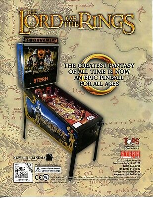 Lord of the Rings Pinball Flyer Mint / Brochure / Ad