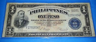 Phillipines One Peso Victory Note ! Series 66 !