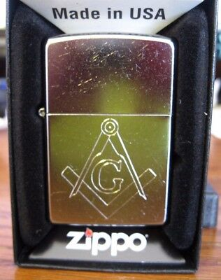 Masonic Zippo Lighter #207 Reg Street Chrome New Lifetime Guarantee