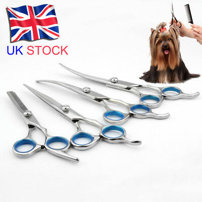 Professional Pets Dogs Cats Grooming Scissors Cutting Thinning Curved Shears S/L