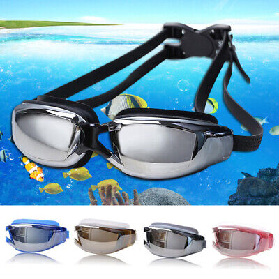 Professional Swimming Goggles Anti-fog UV Protection Waterproof Silicone Glasses