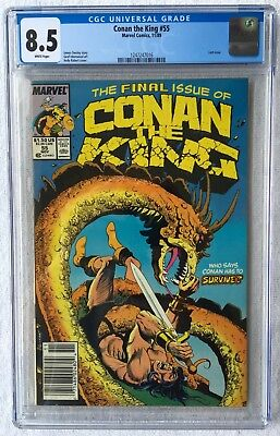Cgc 8.5 Conan The King #55 .. Scarce Last Issue .. Newsstand Edition ..