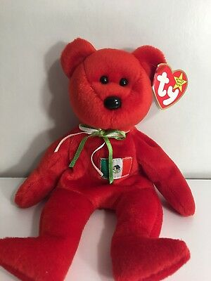 RARE Ty Beanie Baby Osito The Mexican Bear 1999 MINT Retired! ERRORS