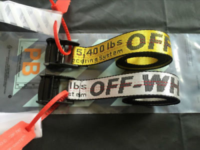 HOT OFF WHITE Tie Down Nylon Cotton IRON Head Industrial Belt 200cm FREE P&P US