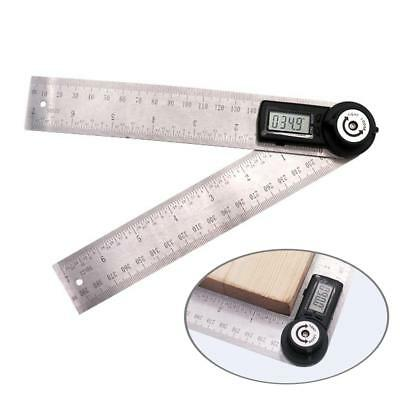 Digital Protractor inclinometer Goniometer Stainless Angle Ruler Finder Meter