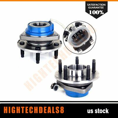 Set Of 2 New Front Wheel Hub AndBearing Assembly For Chevy AndGM Cadillac ABS
