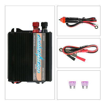 500W Car Power Inverter Sine Wave Universal AC Outlets 5V 1000mA Dual USB Potrs
