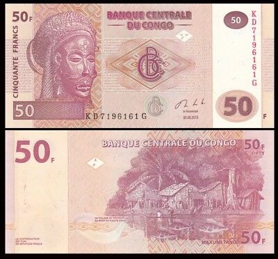 CONGO 50 Francs, 2013, P-97, UNC World Currency