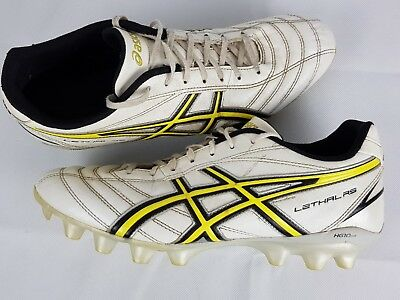 Asics Lethal RS Soccer Football Boots Mens White Black Yellow Size US10
