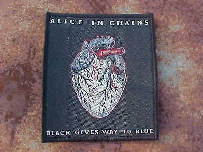Alice In Chains Black Gives Way To Blue Heart Patch Sew-On Mint!