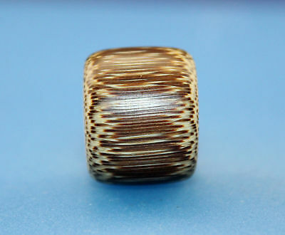 17*21 mm Antique Dzi bamboo old Bead from Tibet **Free shipping**