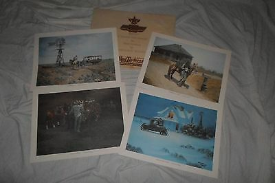 (4) Vintage 1978 Kenneth Wyatt western prints 13x17 Mint **Worldwide**