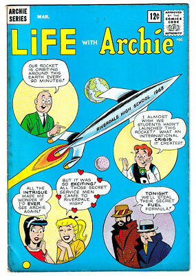 LIFE WITH ARCHIE 19 (Mar. 1963) Rocket Cover; VF 8.0