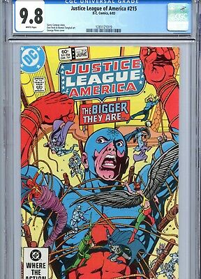 Justice League of America #215 CGC 9.8 White Pages Perez Cover DC Comics 1983