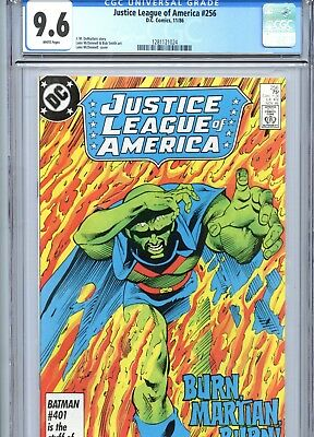 Justice League of America #256 CGC 9.6 White Pages DC Comics 1986
