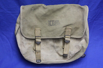 Original Wwii Ww2 Us Army M1936 Musette Pack Bag Khaki Canvas Field Pack