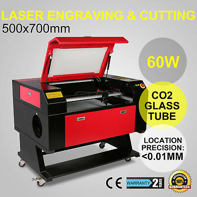Laser Engraving Machine Engraver Cutter Auxiliary Usb Port 60W Co2 500Mm X 700Mm