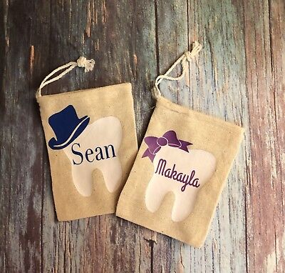 Tooth Fairy Bag ~ Personalized Custom Tooth Pouch ~ ToothFairy Teeth