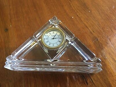 Waterford Crystal Triangle Clock