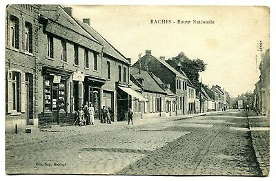 CPA - Carte Postale - France - Raches - Route Nationale - 1922 ( SV5462 )