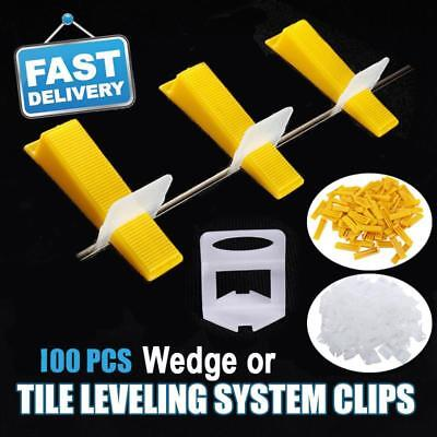 100pcs Tile Leveling System Clips Levelling Spacer Tiling Tool Floor Wall Wedge