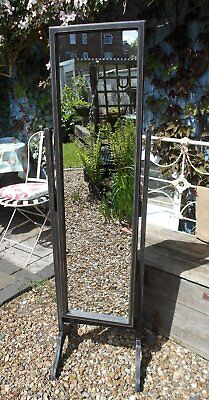 Vintage  Painted / Distressed  Full  Height  Cheval  Mirror