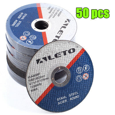 "GERMAN ENGINEERED THIN METAL CUTTING DISC 115mm/4.5"" Angle Grinder Blade 50x"