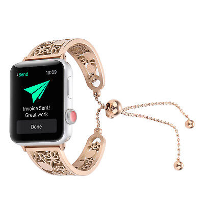 Lady Stainless Steel Wrist Band Bangle Bracelet For Apple Watch 38mm/42mm US KY