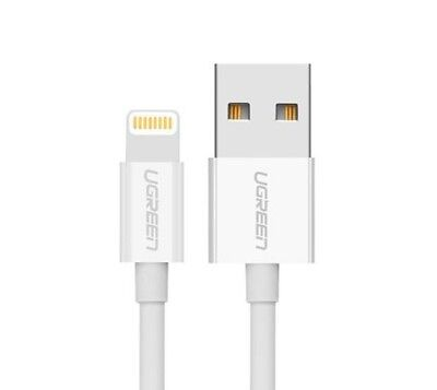 UGREEN 2m US155 MFI Certified Lightning Cable USB 2.0 Charging & Sync ABS White