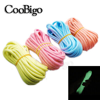 20FT Glow in the Dark Parachute 550 Cord Rope 7 Strand Core Paracord Braeclet