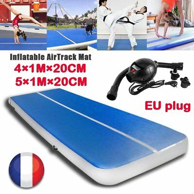 Gonflable Tapis Gymnastique Air Tumbling Track Cheerleading Pompe Mat Pad Yoga D