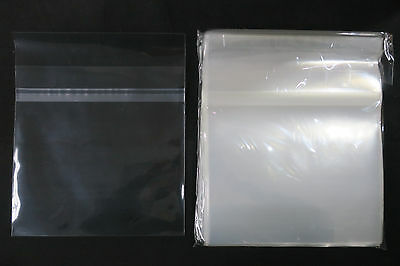 """100x 7"""" Sleeves Sealable Crystal Clear Polypropylene Vinyl Record Covers NEW"""