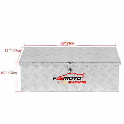 "39""X13""X10"" Aluminum PICKUP TRUCK TRUNK TOOL BOX TRAILER Under body bed Storage"
